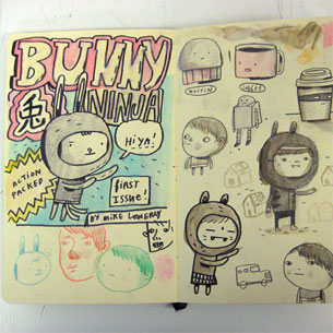 Miek Lowery Sketchbook Bunny Ninja